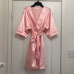 Soft pink Satin dressing gown